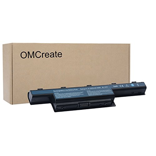 OMCreate New Laptop Battery for Acer AS10D31 AS10D51, Acer Aspire 5253 5251 5336 5349 5551 5552 5560 5733 5733Z / Acer TravelMate 5740 5735 5735Z 5740G / Gateway NV55C NV50A NV53A NV59C