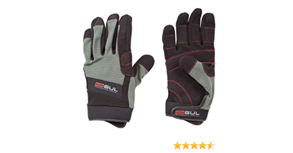 Black//Charcoal Gul Summer Full Finger Sailing Gloves