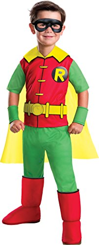 Rubie's Costume Boys DC Comics Deluxe Robin Costume, Small, Multicolor -