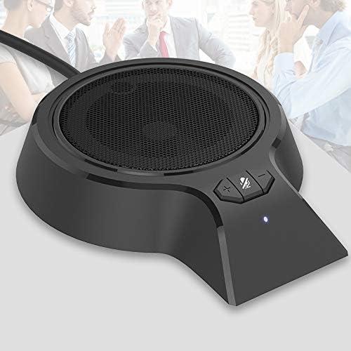 R/éunion Meeting Conversation,Travail /à Distance Microphone /à Condensateur Micro USB Omnidirectionnel pour Ordinateur St/ér/éo Portable PC pour Conf/érence