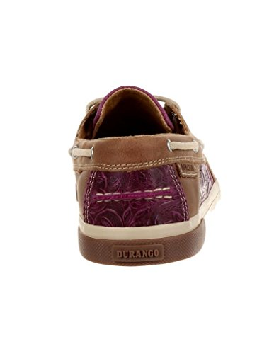 Durango Womens Music City Boat Moc Passion Prugna
