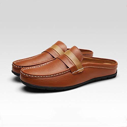 Hombre Negocios Mocasines Hombre De Brown Guisantes Yuan Zapatos wR6qHfqZ
