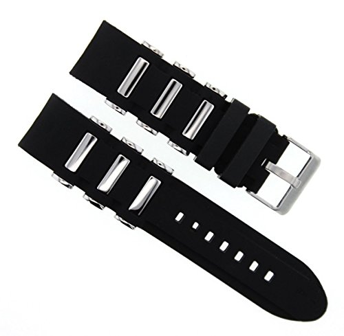 26 MM SILICONE RUBBER DIVER BAND STRAP