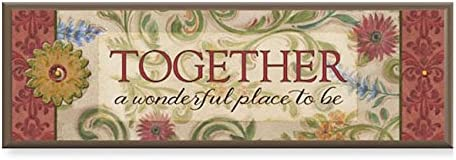 Cathedral Art Layered Wood Plaque Blessed One Size Multicolored