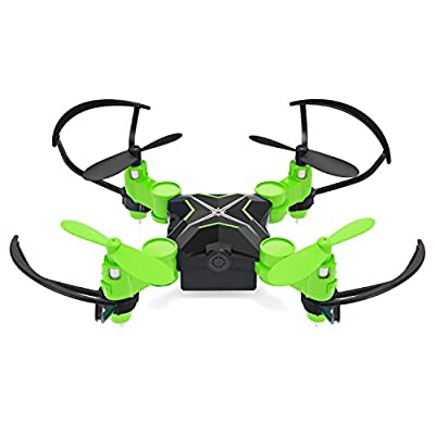 Heliway Mini Drone WiFi FPV Drone with HD Camera 0.3MP Headless Mode 3D Flip One-key Taking-off & Landing 6-Axis Gyro 2.4GHz RC Quadcotper - Green by Heliway