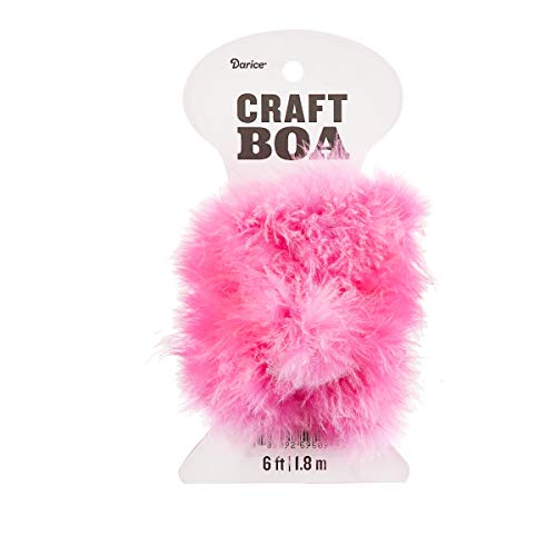 Darice 30061282 Candy Pink Craft 2 Yards Feather Boa,