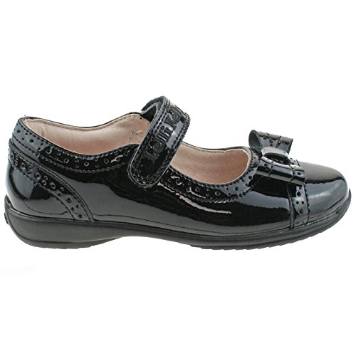 Lelli Kelly LK8212 (DB01) Gabriella Black Patent School Dolly Shoes F Fitting-26 (UK 8)