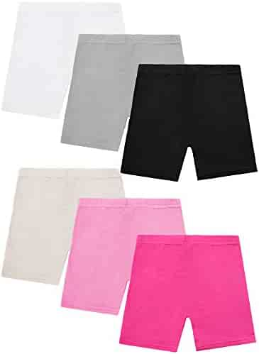 Resinta 6 Pack Dance Shorts Girls Bike Short Breathable Safety 6 Color