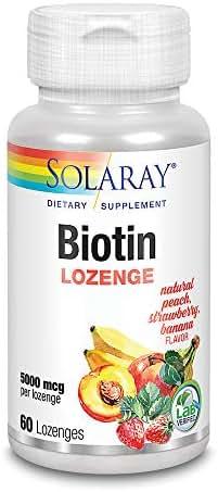 Solaray Biotin Lozenge, 5000 mcg, 60 Count