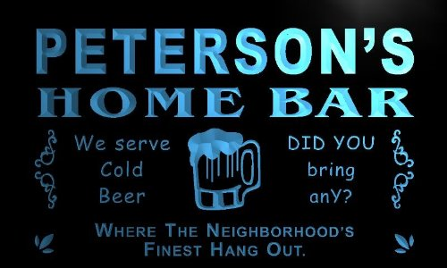 ADVPRO x1068-tm Peterson's Home Bar Club Custom Personalized Name Neon Sign