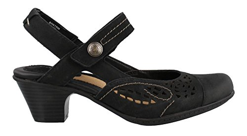 Earth Women's Bantam Closed Toe Sandal,Black Vintage Leather,US 7 M