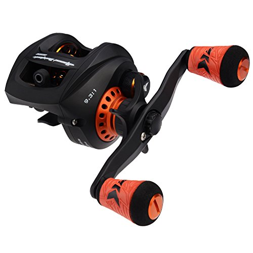 High Speed Baitcasting Reel - KastKing Speed Demon Pro Baitcasting Reel, High Speed 9.3:1 Gear Ratio, 12+1 Double Shielded Stainless Steel BB for Saltwater or Freshwater,Tournament Ready Magnetic Brakes, Golf Style Grips
