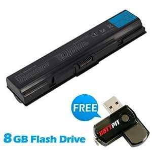 Battpit Recambio de Bateria para Ordenador Portátil Toshiba Satellite L455-SP5011L (6600 mah) Con memoria USB de 8GB GRATUITA