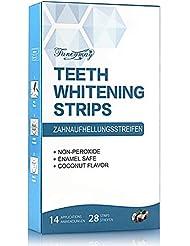 Teeth Whitening Strips, Fancymay Non-Slip Dental Whitener Whitening Strips Kit with Coconut Oil, 14 treatments, 28 Whitestrips