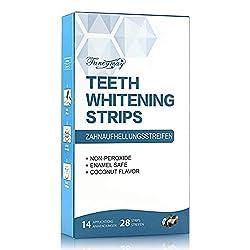 Teeth Whitening Strips, Fancymay Non-Slip Dental Whitener Whitening Strips Kit with Coconut Oil, 14 treatments, 28 strips