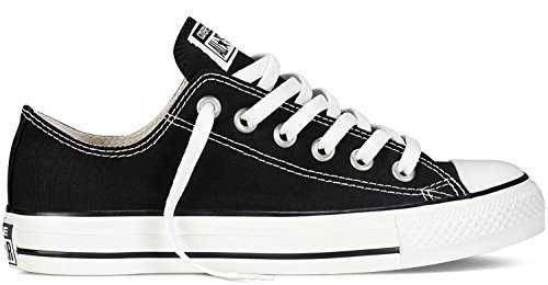 Converse Unisex Chuck Taylor All Star Low Top Black Sneakers - 8 8 B(M) US Women / 6 D(M) US Men