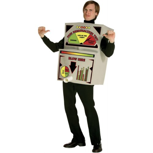 Breathalyzer Costume Adult Costume - One Size -