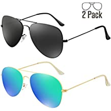 Livhò G Sunglasses for Men Women Aviator Polarized Metal Mirror UV 400 Lens Protection