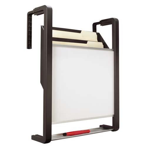 o Quartet o - Erasable Panel,w/Hanging File Pckts.,15''x4''x20'',Black/Silver by Quartet