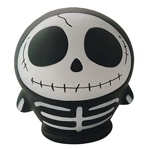 Beautyonline Halloween Novelty Jumbo Slow Rising Squishies, Pumpkin Witch Spooky Kawaii Slow Rising Scented Squishies Kids & Adults Stress Relief Toys and Halloween Decorative Props( - Skull Squishy Ball