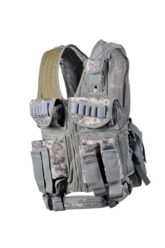 Ultimate Tactical Acu Paintball Vest - 8 Pod Pouches Army Digital (Pouch Paintball Pod 2)