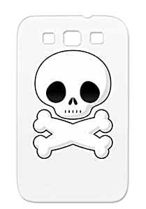 Skull Skull And Crossbones Art Design Pirate Cartoon Illustration Graphic Clip Art Crossbones White For Sumsang Galaxy S3 Cover Case