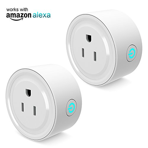 Mini Smart Plug Outlet with Timer Work with Amazon Alexa Google Home IFTTT,no Hub Required,ETL and FCC listed Wifi enabled Remote Control Smart Socket by Gosund,Only Supports 2.4GHz Network (2 Pack)