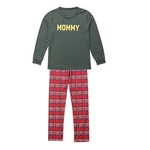 2PCS Christmas Pajamas Set Duseedik Children Baby Dady Mom Long Sleeves Letter Print Top Pants -