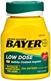 Bayer Low Dose Aspirin 81 mg Enteric Coated Tablets - 300 ct, Pack of 3