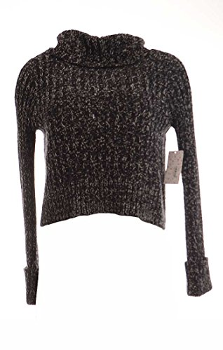 People Twisted Cable Turtleneck Sweater - Women's Black C...