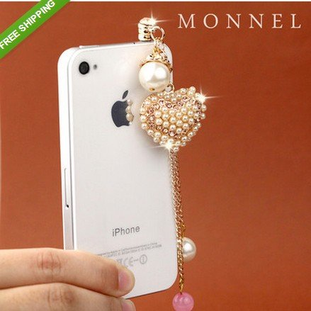 - ip641 Adorable Precious Valentine Gift Heart Love Charm Anti Dust Plug Cover for Iphone Smart Phone