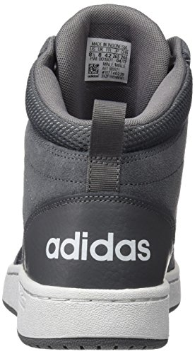 's crystal Adidas top Hi Men Hoops grey Super Mid Four Trainers Grey White Cf 747xrF