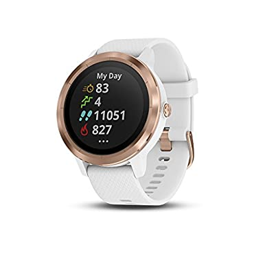 Garmin  Vivoactive 3, GPS Smartwatch with Contactless Payments and Built-in Sports Apps, White/Rose Gold