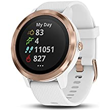 """Garmin 010-01769-09 vívoactive 3, GPS Smartwatch with Contactless Payments and Built-in Sports Apps, 1.2"""", White/Rose Gold"""