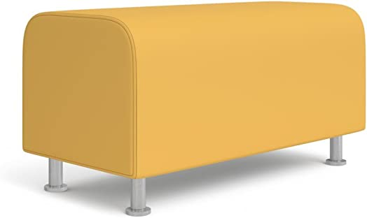 Turnstone Alight Lounge Bench Ottoman: Brushed Aluminum Leg