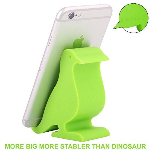 Plinrise Animal Series Phone Stand, Bird/Dove/Pigeon Silicone Cellphone Holder,Creative Phone Tablet Desktop Stand Mounts,Size:1.3 X 3.1 X 3.3 - Light Green