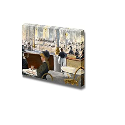 Interior of a CAF¨¦ by ?douard Manet - Canvas Print Wall Art Famous Painting Reproduction - 24