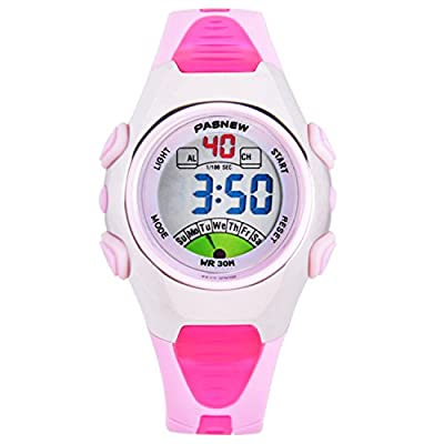 Kids LED Waterproof Sport Digital Watch With Alarm Clcok Stopwatch Calendar Watches For Girls Boys