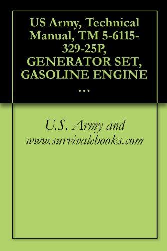US Army, Technical Manual, TM 5-6115-329-25P, GENERATOR SET, GASOLINE ENGINE DR, (LESS ENGINE), 0.5 KW, AC, 120/240 V, 60 HZ, 1 PHASE, DOD MODEL, (FSN