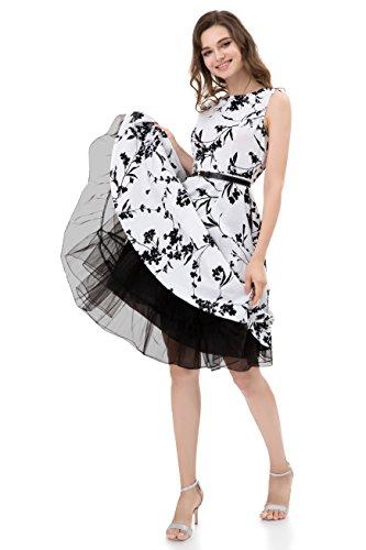 (MEITM Women's 50s Vintage Rockabilly Petticoat 28'' Length Net Tulle Underskirt Petticoat Half Slip (S,)