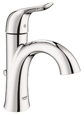Perfect Grohe 23 401 A Agira Single Hole Bathroom Faucet With SilkMove   Free Metal  Pop,
