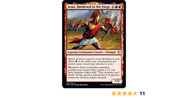 MTG FOIL Anax Hardened In The Forge Showcase Frame Uncommon Theros Beyond Death