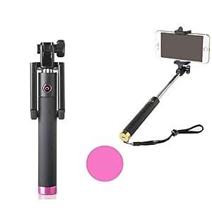 cjbrother extensible selfie de mano stick Pole–Monopié (con integrado Bluetooth Wireless Cámara Disparo del Obturador Remoto y ajustable soporte para teléfono compatible para iPhone, Samsung y otros IOS y Android Smartphones