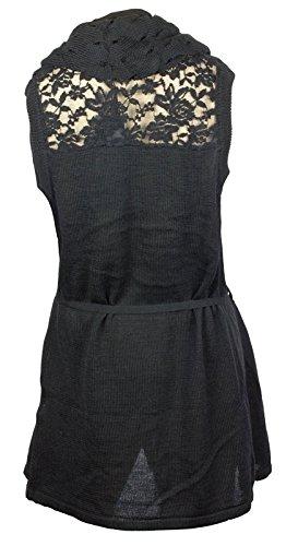 Femme Mesdames Signature Casual Fashion Casual Détails sans manches col châle Wrap Knit Cardigan