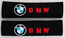 Amooca BMW Seat Belt Cover Shoulder Pad (Red Lettering)