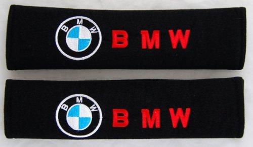 [Amooca BMW Seat Belt Cover Shoulder Pad (Red Lettering)] (Make Shoulder Pads Football Costume)