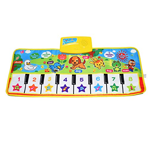 Fresh Household Piano Mat, Kids Keyboard Mat Playmat Education Toy Birthday Christmas Easter Day Gift for Kids Boys Girls]()