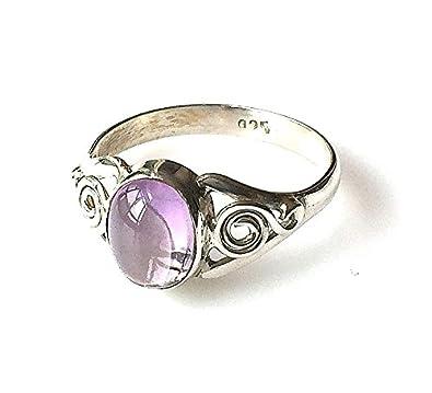 Shanya Sterling Silver Elegant Handcrafted Ring Amethyst a47E0dB5