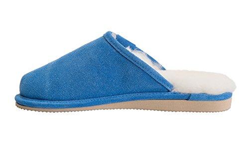 Doublure Chaussons Vogar Luxe Femmes Pantoufles Bleu De Mouton c W74l Avec Laine Peau Chaud U8wRawqA