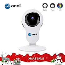anni 1080P Wifi IP Camera 2.0MP Home Video Monitoring Wireless Cube Camera, Support TF card/two-way voice intercom